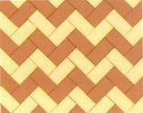 Herringbone bond is recommended for heavy vehicular traffic laden pavement