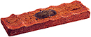 Super Red Color Rockface Sliced Brick Veneer with Shade