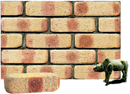 Golden Cream Color Cobble Brick