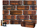 Golden Brown Color Cobble Brick