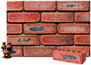Super Red Color Cobble Brick with Antique Clinker