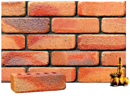 Golden Peach Color Cobble Brick with Sunset Clinker Shade