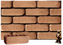 Golden Sand Color Cobble Brick