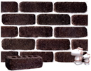 Dark Brown Brown Color Cobble Brick