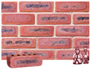 Lavender Color Cobble Brick with Antique Clinker