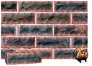 Lavender Color Rockface Brick with Dark Clinker Shade