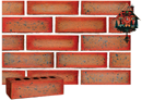Super Red Color Smooth Face Brick with Antique Clinker