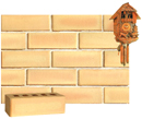 Golden Cream Color Smooth Face Brick with Shade