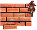 Golden Peach Color Smooth Face Brick with Antique Clinker