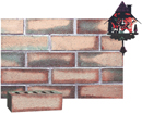 Granite Color Smooth Face Brick with Sunset Clinker Shade