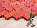 Super Red Color Cobble Paver