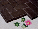 Dark Brown Color Cobble Paver