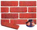 Super Red Color Cobble Brick Veneer