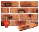 Golden Peach Color Cobble Brick Veneer with Shade