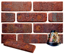 Golden Brown Color Cobble Brick Veneer