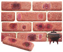 Lavender Color Cobble Brick Veneer with Shade