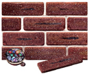 Golden Brown Color Cobble Sliced Brick Veneer with Shade