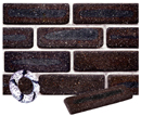 Dark Brown Color Cobble Sliced Brick Veneer with Shade