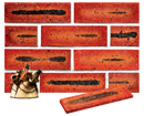 Super Red Color Smoothface Sliced Brick Veneer with Shade