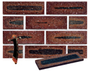 Golden Brown Color Smoothface Sliced Brick Veneer with Shade