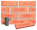 Golden Peach Color Smoothface Brick Veneer with Shade