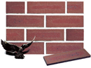 Golden Brown Color Smoothface Brick Veneer with Shade