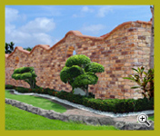 Golden Peach, Golden Cream, & Golden Brown Antique Brick Fencing Project at Johor
