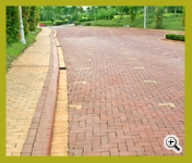 Super Red and Golden Peach Colors Wirecut Paver Driveway Project at Kuala Lumpur