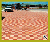 Golden Peach & Super Red Color Wirecut Paver(3WC288-16 & 02) Landscaping Project at Sarawak, Malaysia